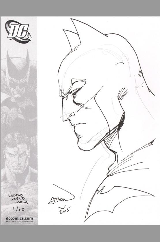 ethan van sciver batman original art sketch wizard world nola exclusive