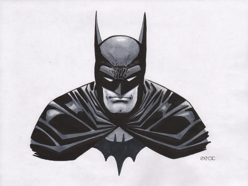 batman mike michael zeck original art sketch 1jpg