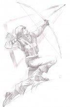 green-arrow-cw-original-dc-comic-art-sketch-longbow-hunters-1