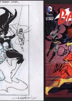 aaron-lopestri-flash-75th-variant-cover-prelim-signed-comic-batgirl-1