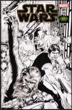 star-wars-marvel-comics-variant-cover-signed-signature-autotraph-jason-aaron-laura-martin-alan-davis-sketch-art-1