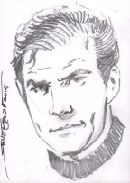 Art of Star Trek Original Art Sketch Card ~ Captain James T. Kirk Comic Art