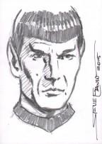 Art of Star Trek Original Art Sketch Card ~ Mr. Spock Comic Art