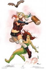 frank-cho-artist-proof-ap-brandon-peterson-batman-print-harley-quinn-poison-ivy-1