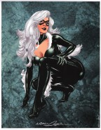 neal-adams-signed-signature-autograph-art-print-black-cat-spider-man-spiderman-1