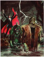neal-adams-signed-signature-autograph-art-print-dracula-frankenstein-creature-from-the-black-lagoon-universal-monsters-1