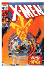 neal-adams-signed-signature-autograph-art-print-marvel-comics-x-men-xmen-havok-1