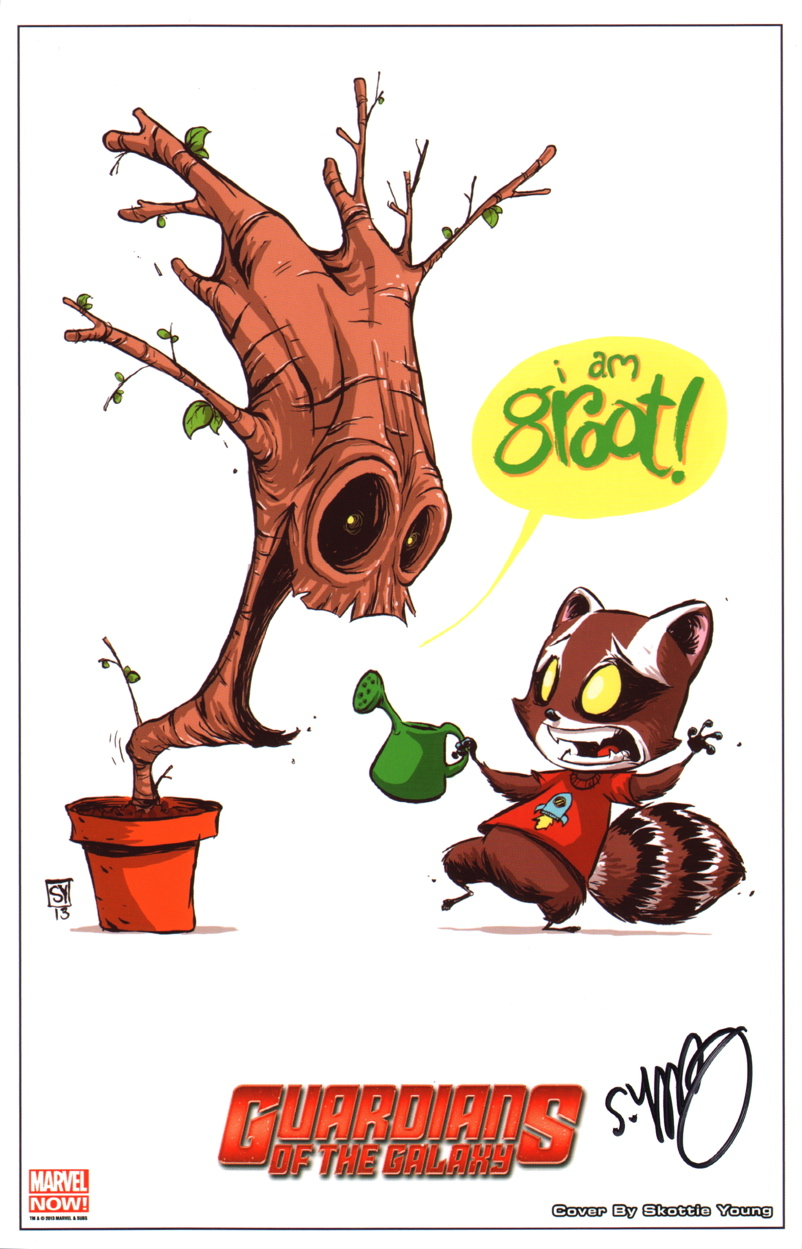 Skottie Young Signed Guardians Of The Galaxy Promo Art Print