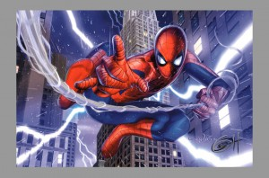 greg-horn-signed-signature-autograph-art-print-spiderman-in-new-york-1