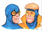 kevin-maguire-original-art-justice-league-international-jla-booster-gold-blue-beetle-1