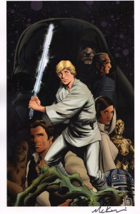 mike-mckone-signed-signature-autograph-comic-art-print-luke-skywalker-star-wars-marvel-1