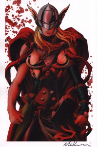 mike-mckone-signed-signature-autograph-comic-art-print-marvel-lady-thor-1