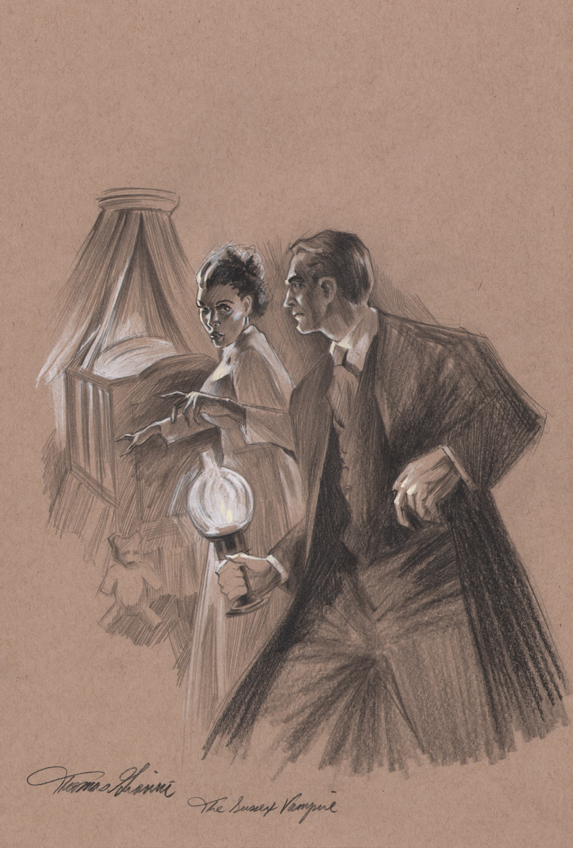 Thomas Gianni Original Sherlock Holmes Mystery Magazine 17 Cover Art