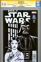 star-wars-amanda-conner-variant-cover-first-issue-1-cgc-ss-signed-signature-series-autograph-stan-lee- jason-aaron-laura-martin-sketch-cover-1