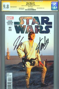 star-wars-movie-photo-luke-skywalker-variant-cover-first-issue-1-cgc-ss-signed-signature-series-autograph-stan-lee- jason-aaron-laura-martin-cover-1