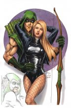 billy-tucci-signed-remarque-comic-art-print-black-canary-green-arrow-cw-new-1
