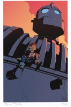 Stephan-Franck-signed-and-numbered-le-iron-giant-hogarth-art-print-autograph-signature-2