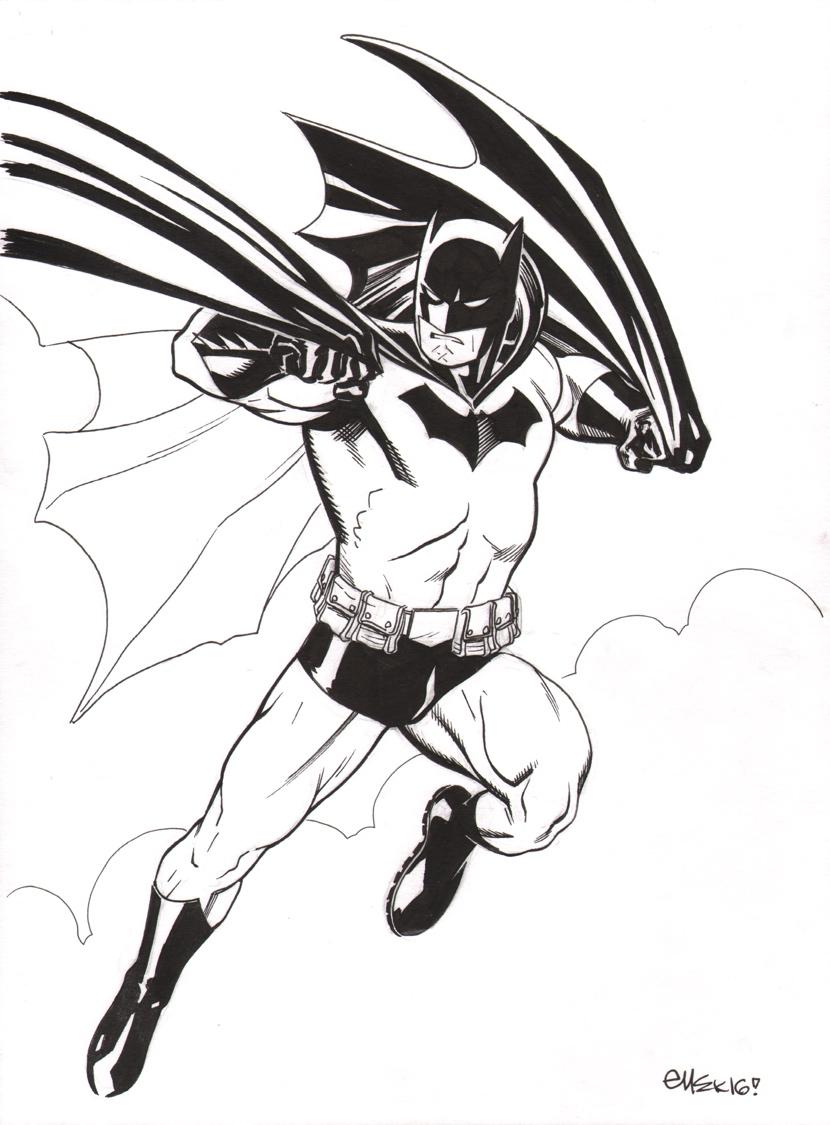 Ed Mcguinness Original Art Sketch Batman