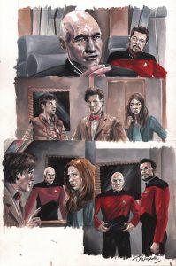 jk-woodward-star-trek-tng-doctor-who-assimilation-2-original-art-page-picard-riker-amy-pond-1