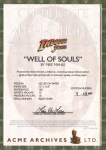 mike-mahle-indiana-jones-signed-well-of-souls-artist-proof-ap-art-print-acme-arvhices-ltd-signed-signature-autograph-1