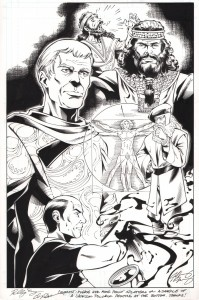 star-trek-legion-of-super-heroes-dc-idw-original-art-splash-page-flint-requiem-for-methuselah-tos-1