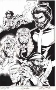 star-trek-legion-of-super-heroes-dc-idw-original-art-splash-page-vandal-savage-flash-cw-tos-