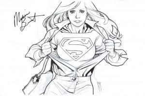supergirl cbs television series announcement original art