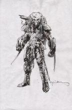 bill-sienkiewicz-signed-predator-original-art-sketch-avp-aliens-1