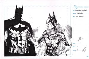 matthew-clark-signed-batman-batgirl-original-art-1