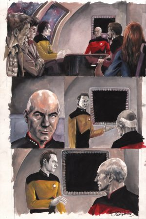 star-trek-jk-woodward-doctor-who-crossover-original-painting-art-page-1