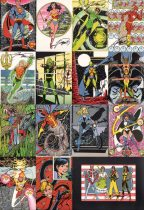 jla-george-perez-signed-post-card-postcard-art-set-wonder-woman-superman-flash-green-lantern-1