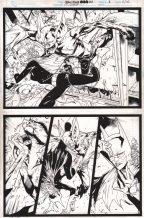 what-would-batman-do-original-art-matthew-clark-man-bat-batgirl-1