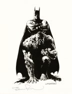 bernie-wrightson-signed-signature-autograph-art-print-batman-swamp-thing-1