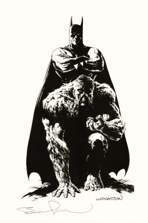 bernie-wrightson-signed-signature-autograph-art-print-batman-swamp-thing-1