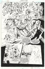 alan-davis-original-dc-comic-art-page-superboy-legion-of-super-heroes-brainac-1