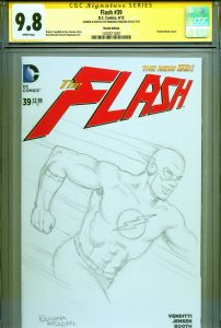 cgc-ss-signed-signature-series-autograph-original-art-sketch-sketched-blank-cover-ramona-fradon-the-flash-1