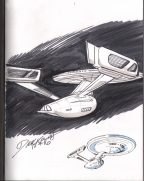 uss-enterprise-original-art-sketch-star-trek-newspaper-comics-volume-two-dick-kulpa-original-art-sketch-signed-3