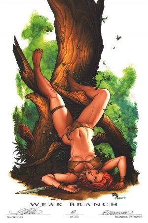 frank-cho-signed-signature-autograph-art-print-brandon-peterson-artist-proof-ap-weak-branch-jungle-girl-1