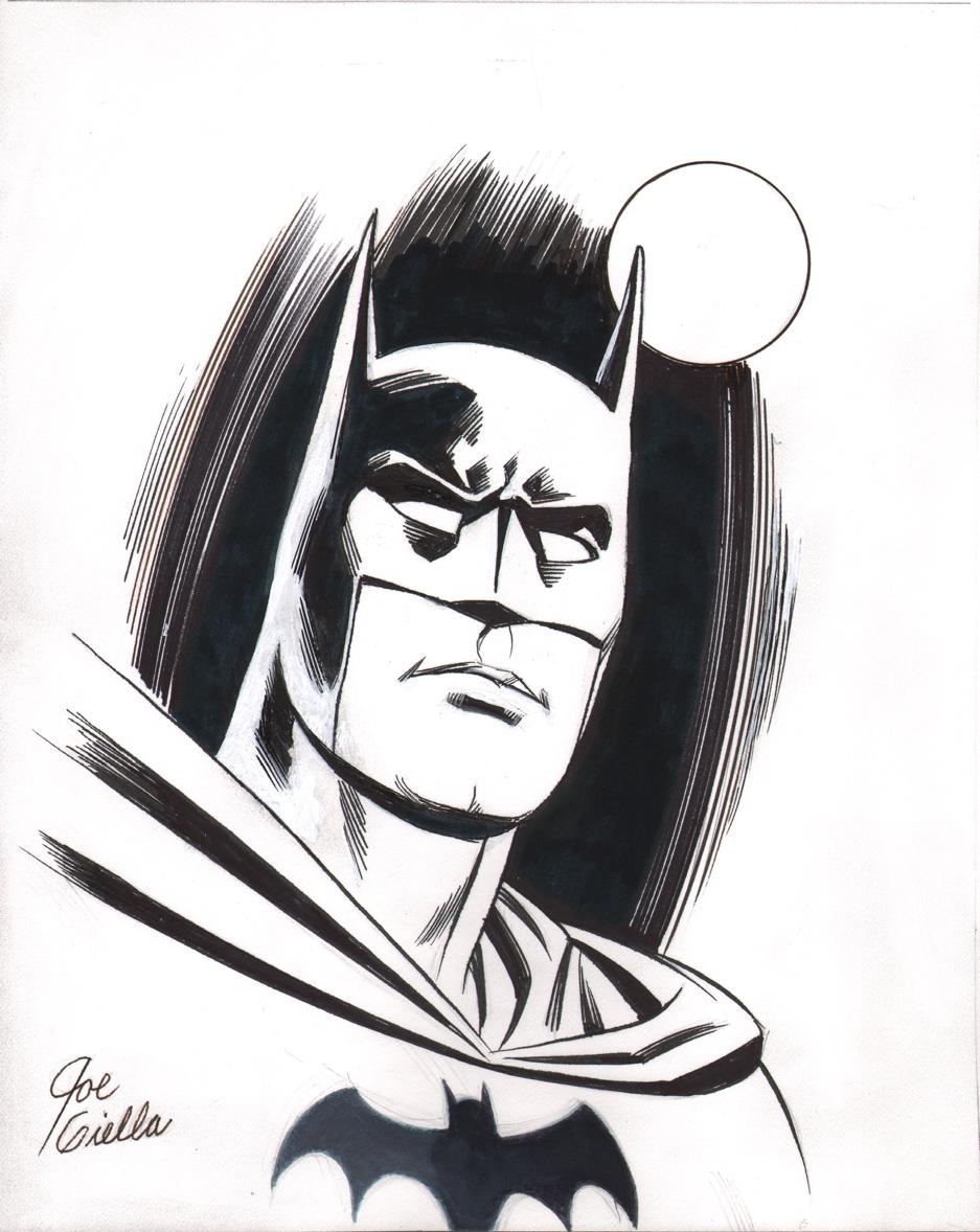 joe giella original batman art sketch