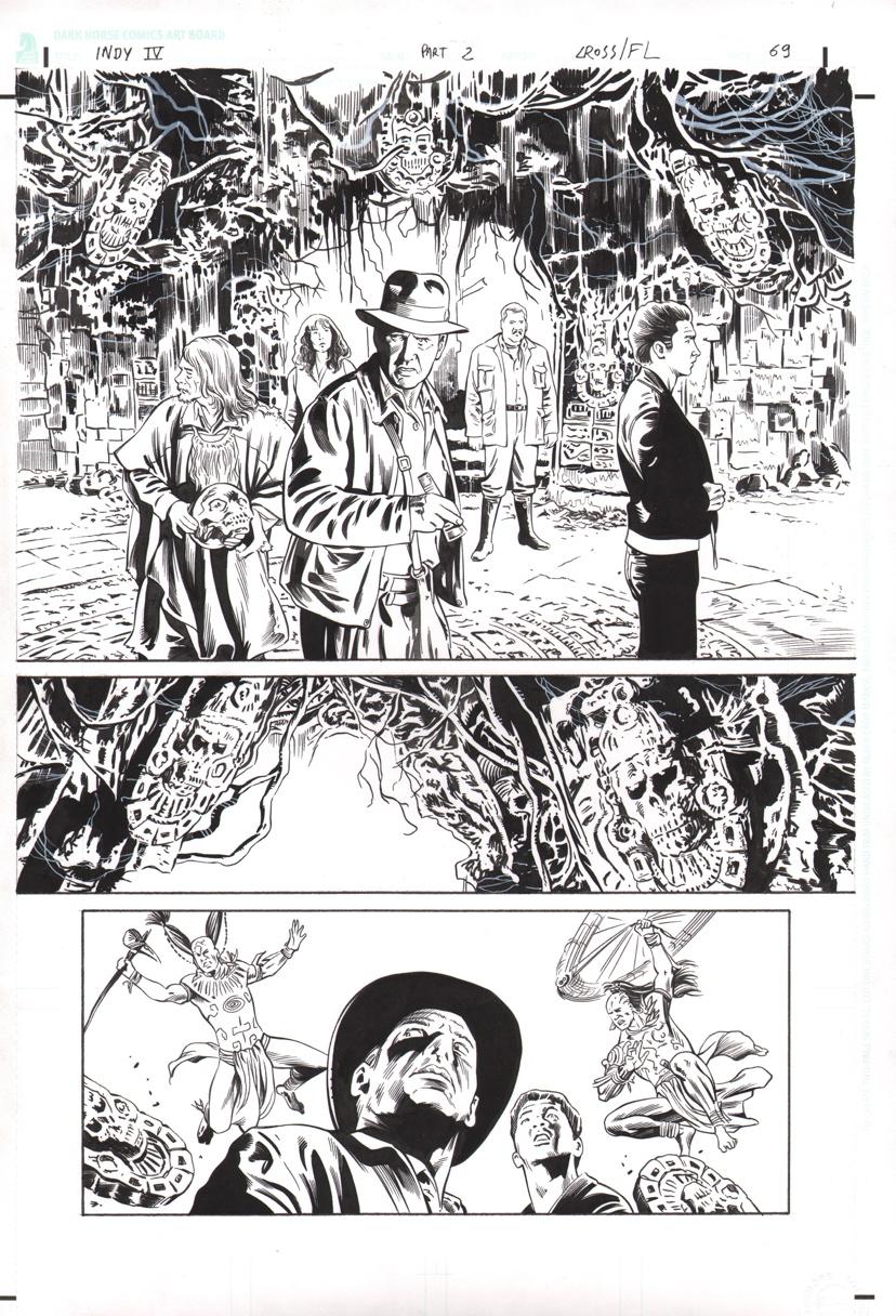 Indiana Jones Kingdom of the Crystal Skull Original Art