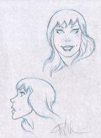 Angel Medina Original Spider-Man Art Prelim Sketch ~ Mary Jane Comic Art