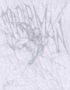 Angel Medina Original Art Sketch ~ The Amazing Spider-Man / Webbing Comic Art